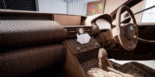 Lexus Origami Car Is Made of Cardboard And Actually Runs