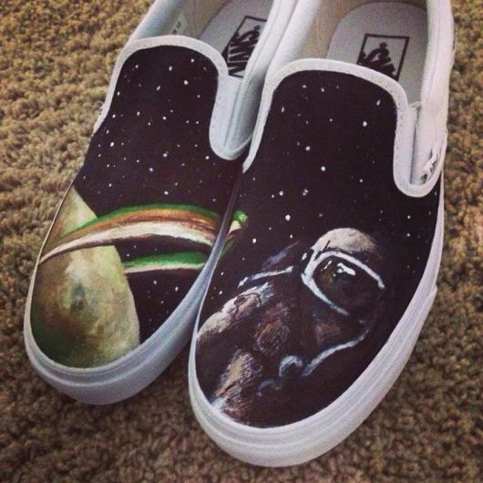 Hand-Painted Shoes With Pop Culture Icons