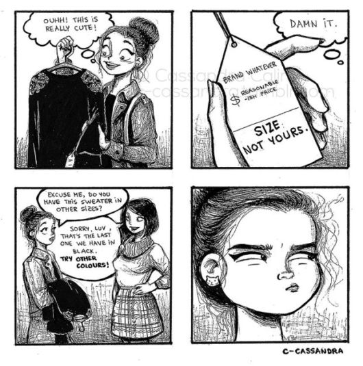 Funny Illustration Of Everyday Womens Problems