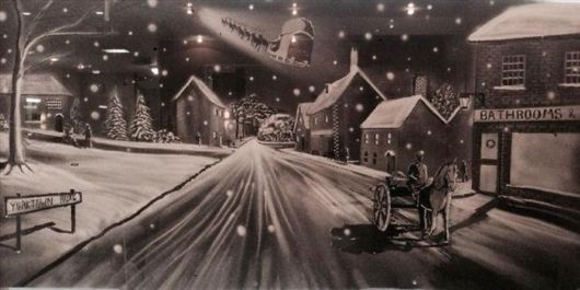 Beautiful Snowy Scenes Made With Spray