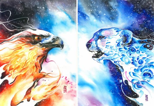 Amazing Watercolor Expressive Animal Paintings