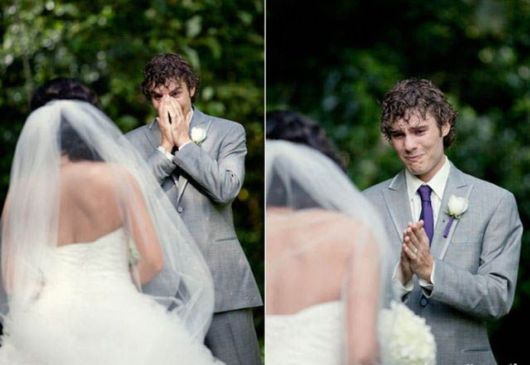 How Romantic - Grooms' Expressions After Seeing The Bride