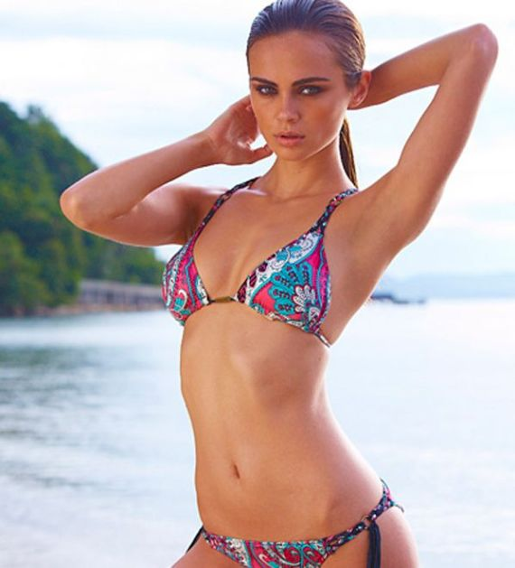 Click to Enlarge -Xenia Deli Shoots For Sports Illustrated South Africa Calendar