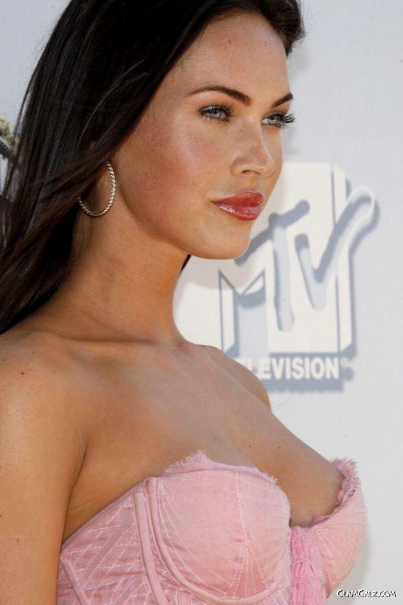 Cute Megan Fox In Pink Dress