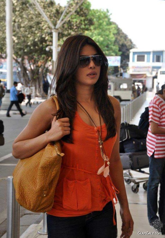 Priyanka Chopra Candids At The Airport