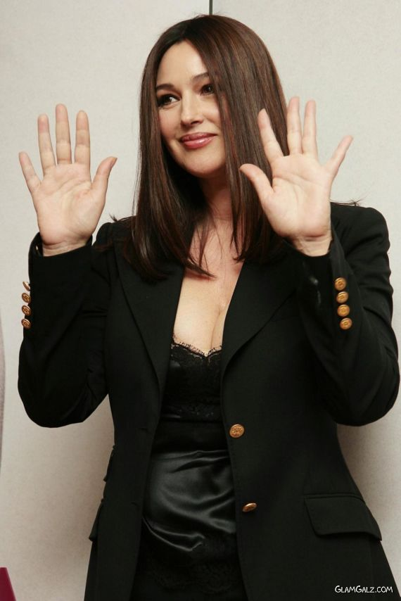 Gorgeous Monica Bellucci Promoting Her Mag