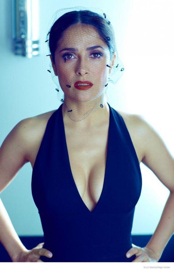 Salma Hayek Poses For Elle Mexico