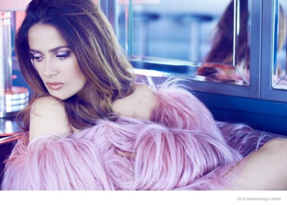 Salma Hayek Poses For Elle Mexico