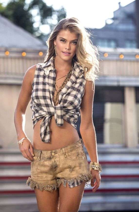 Nina Agdal For Sunaj Spring Summer 2015 Catalog