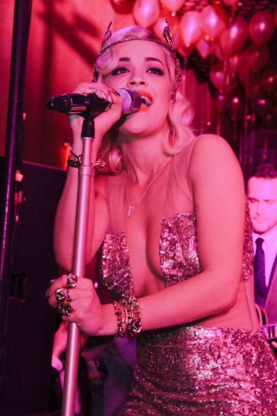 Rita Ora At Top Of The Standard New Years Party