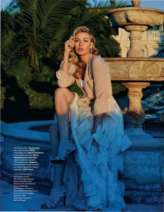 Maria Sharapova Shoots For Talter Mag