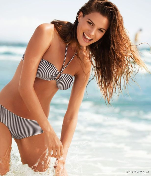 Cheerful Cameron Russell For Victorias Secret Shoot