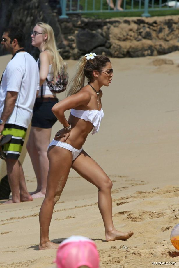 Vanessa Hudgens Bikini Candids in Hawaii