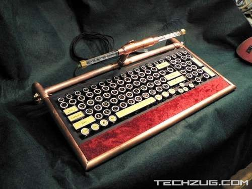 Stunning Steampunk Keyboard Designs